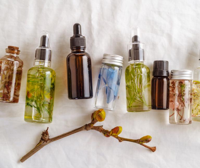 Assorted herbal oils